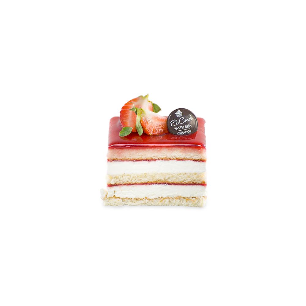 pastel de fresa y nata