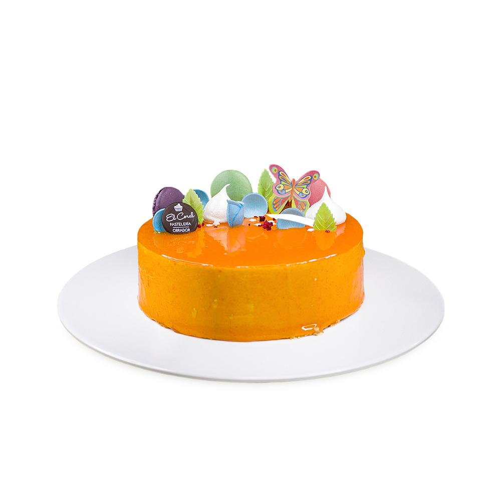 tarta de yogurt y mango